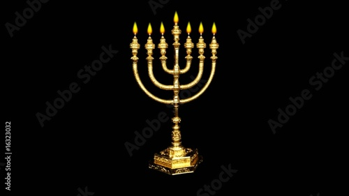 candlestick, seven candle, loopable fire, religious, church
