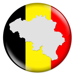3D-Button Europäische Union - Belgien