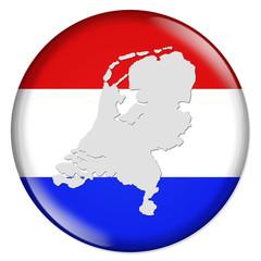 3D-Button Europäische Union - Niederlande