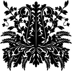 black and white plant ornament