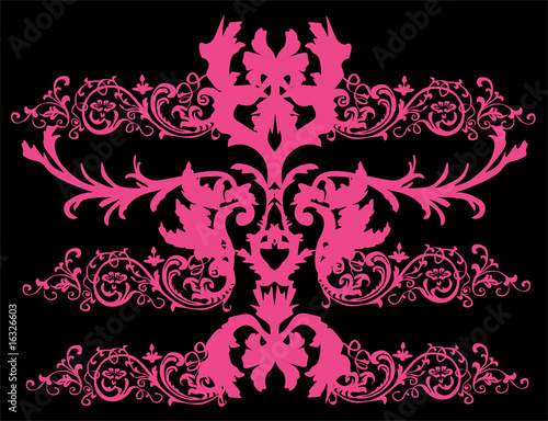 bright pink symmetric pattern