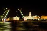 Palace bridge above Neva poster