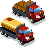 Oil Truck Isometric poster