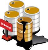 Oil Tanks Isometric poster