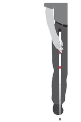 vector illustration of vision impairment