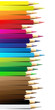vector illustration of crayon or color pencil