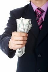 hand, money dollars usa