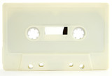 Cream colored cassette tape