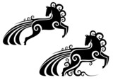 Horse silhouette as a mascot poster