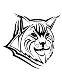 Lynx head as a mascot poster