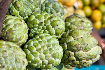 Custard Apple for sale at a market for farm products