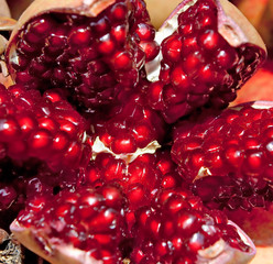 Pomegranate background for sale at a market for farm products