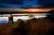 Camping Lake Sunset