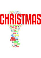 Christmas tags cloud