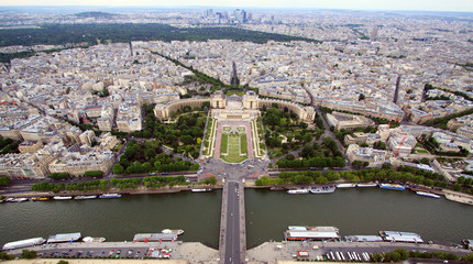 Trocadero and Palais de Chaillot from above, Paris, France