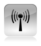 Wireless WLAN glossy icon poster