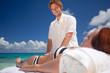 enjoying massage at seaside