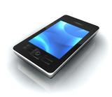 Fototapety Portable écran bleu perspective