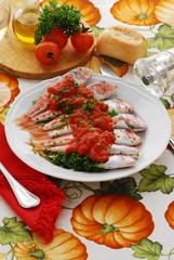Triglie ca' pummarola 'ncoppa - Secondi di pesce Campania
