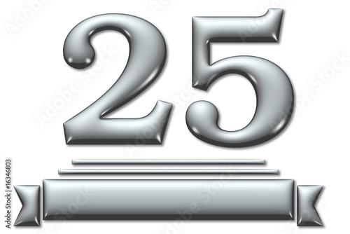 25 Jahre, Jubiläum, Silberne Hochzeit