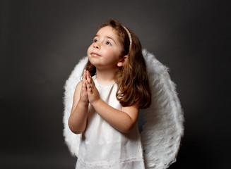 Holy angel praying, faith, worship