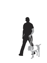 "illustration of ""seeing-eye dog"" at work"