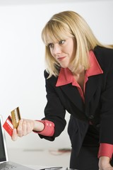 Financial Advisor Holding Credit Cards