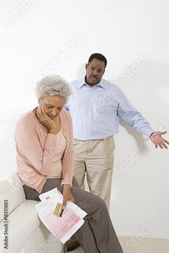 Senior Couple Having Financial Difficulties