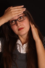 headache and stress