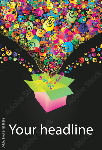 Abstract colorful (grunge banner) background