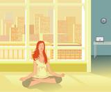 Yoga practice and Reiki self-healing poster