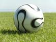 Fußball in einer Nahaufnahme