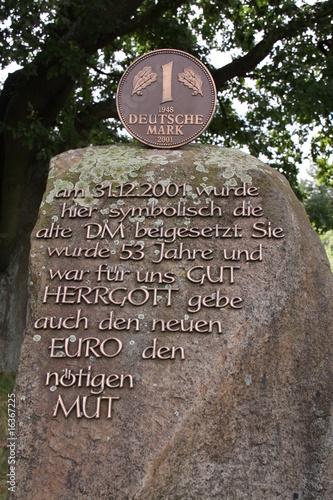 Poster Deutsche Mark Denkmal