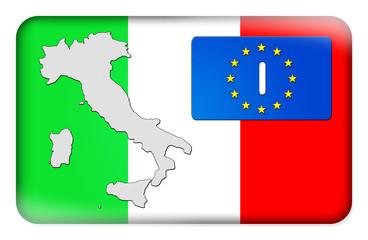 3D-Button Europäische Union - Italien