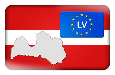 3D-Button Europäische Union - Lettland