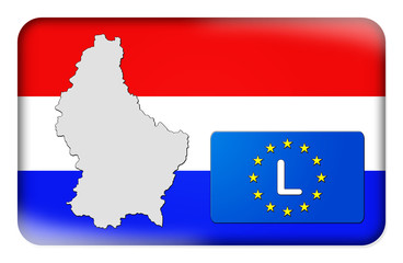 3D-Button Europäische Union - Luxemburg