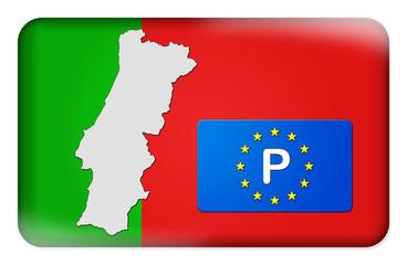 3D-Button Europäische Union - Portugal