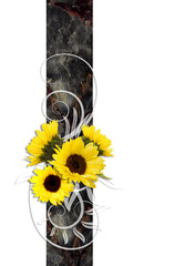 sunflower decoration banner