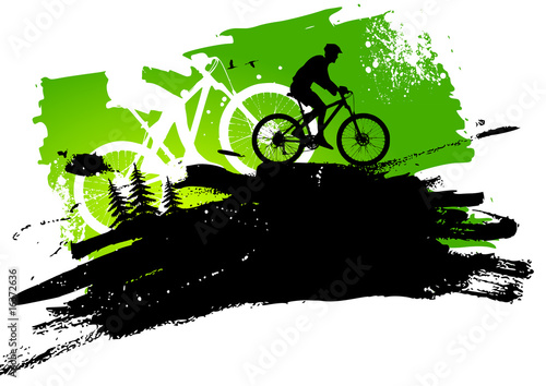 Poster Fietsen Mountain bike abstract background