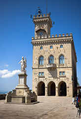 Central square of San Marino