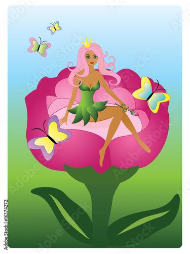 Foto op Aluminium Kasteel Beautiful princess-fairy