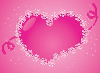 Aqua stylized valentine heart