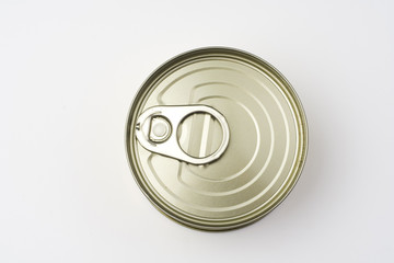 aluminum can, canned food isolated over white