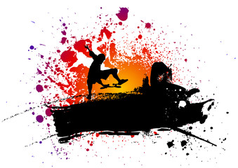 Abstract skateboard background