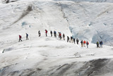 A Group Of Climbers on The Vatnajokull Glacier Iceland