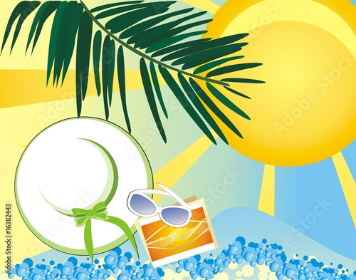 Summer - a pore to rest. Vector