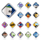 Online Shop, e-commerce and web site icons poster