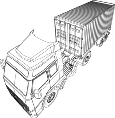 Container truck and trailer