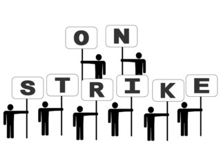 people on strike