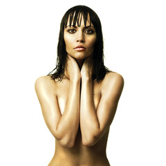 Young sexual woman with wet hair